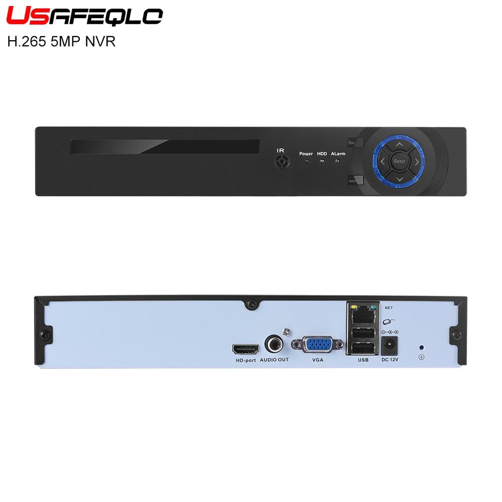 USAFEQLO NEW H 265 5MP 8CH 16CH 5MP 1 SATA HDD Ports NVR XMEYE ONVIF P2P