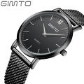 GIMTO Simple Thin Business Famous Brand Watches Weave Quartz Watch Movement Strap Luxury Man Watches Wristwatch Mens Drop Ship