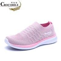 Crocodile Women Run Sneaker Femme Summer Loafer Lady Athletic Jogging Sport Shoes for Women Air Mesh Tennis Hombre Walking Shoes