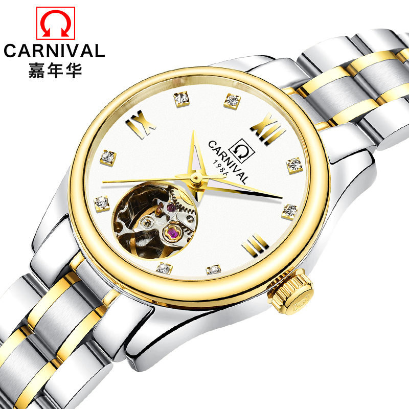Luxury Brand Carnival Women Watches ladies Automatic Mechanical Watch Women Sapphire Waterproof relogio feminino Clock C8789L-4 luxury brand carnival women watches ladies automatic mechanical watch women sapphire waterproof relogio feminino clock c8789l 2