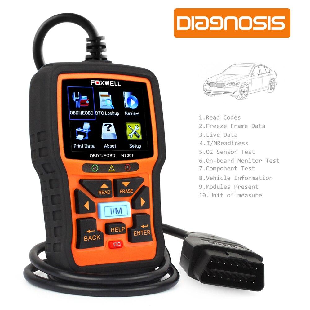 856bc1b2669690 Automobile Scanner Foxwell NT301 OBD OBD2 Auto Outil De Diagnostic Moteur  Code de Défaut Lecteur avec