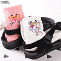 Мода Розовая Пантера Ситец Осень Зима Носки Для Женщин Милые Гарфилд Мультфильмов Носки Самка Короткие Носки