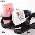 Fashion Pink Panther Printed Cotton Autumn Winter Socks For Women Cute Cartoon Garfield Socks Female Animal Short Socks