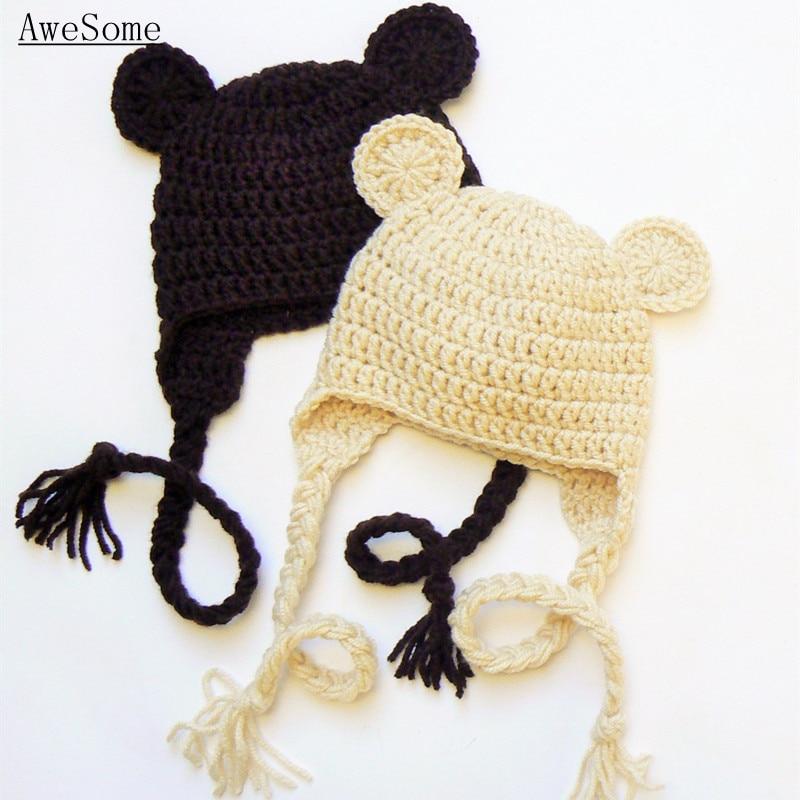 Teddy Bear Hathandmade Knit Crochet Baby Boy Girl Twins Animal