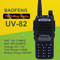 For Baofeng UV-82 Radio Constructor Baofeng Walkie Talkie ricetrasmittenti vhf uhf	UV 82 VHF/UHF Dual Band 136-174/400-520MHz 5W