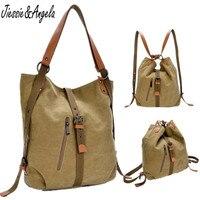 New 2015 Fashion Single Female Canvas Shoulder Bag Women S Backpack Preppy Style School Bag