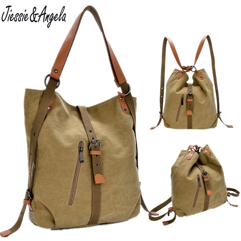 Canvas shoulder bag for women