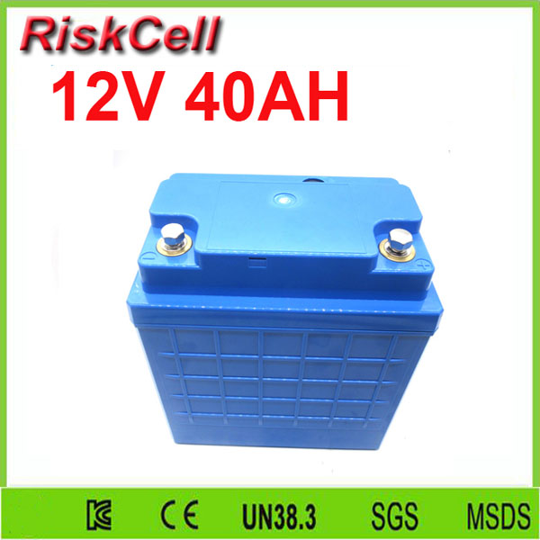 Free   shipping  Rechargeable lithium iron phosphate deep cycle battery 12v 40ah LiFePO4 for solar street light 1s 3 2v lithium iron phosphate battery protection board 5a for 18650 polymer battery charging module