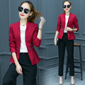 Korean Fashionable Women Blazer Top Pants 2 Piece Set Clothing OL Business Suit Trousers Suit Womens Office Slim Outfit Costume
