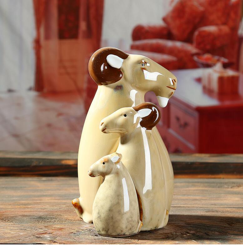 Nouveau Mini mignon famille mouton fée jardin miniatures gnomes artisanat figurines pour la décoration de la maison bureau ornement décor de noël