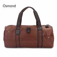 Osmond Men Handbag Large capacity Travel bag Vintage shoulder Messenger Luggage Bags Casual Crossbody Duffel Bags For Male