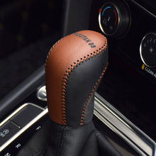 Cowhide Top Layer Leather Automatic Gear Shift Collars Cover For Volkswagen VW Passat B8 and Variant Golf 7 CC