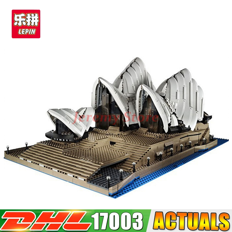 2018 IN STOCK LEPIN 17003 2989Pcs City Series Sydney Opera House Model Building Kits Blocks Bricks Compatible Toys Gift 10234 a toy a dream lepin 24027 city series 3 in 1 building series american style house villa building blocks 4956 brick toys