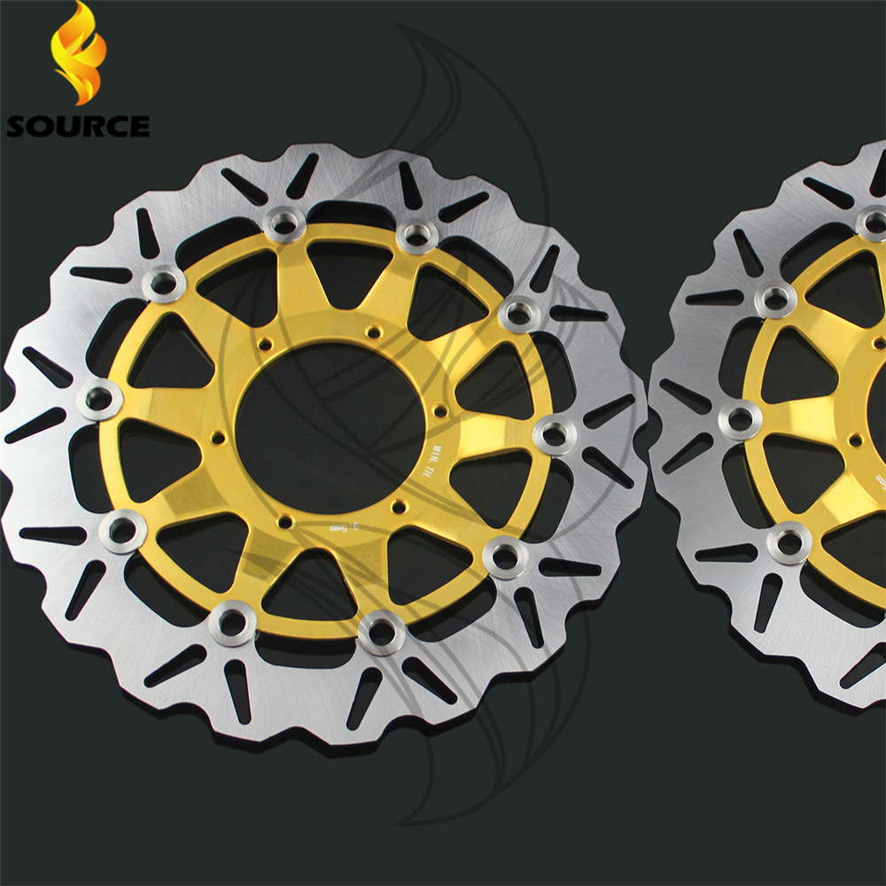 motorcycle parts Aluminum alloy & Stainless steel Front Brake Disc Rotor For Honda CBR1000RR 2006 2007 2008 2009 2010 2011 2012 aftermarket free shipping motorcycle parts eliminator tidy tail for 2006 2007 2008 fz6 fazer 2007 2008b lack