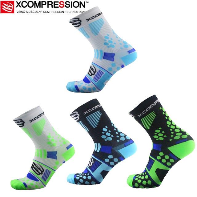 popular socks 2017 - 2017 Professional brand sport socks Protect feet breathable wicking socks popular cycling socks compression socks