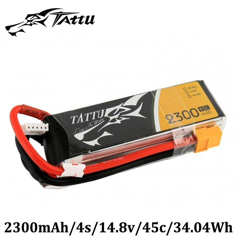 TATTU Lipo Battery 14.8V 2300mAh Lipo 4s 45C Battery  XT60 Plug Lipo Akku for FPV Quadcopter RC Plane Dron FPV UAV 1s 2s 3s 4s 5s 6s 7s 8s lipo battery balance connector for rc model battery esc