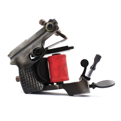 Professional Handmade Tattoo Machine 10-Wrap Coils  Iron Cast Frame Custom  Tattoo Gun For Liner Shader Free Shipping TM-838 8 wrap coils iron electric tattoo machine gun liner
