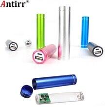 Разноцветный металлический внешний аккумулятор DIY Kit, чехол для хранения, коробка, бесплатный сварочный костюм, аккумулятор 18650, 5 В, 1 А, Внешнее зарядное устройство USB для смартфона