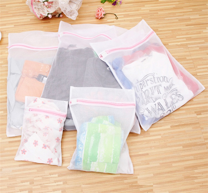 Premium Polyester Laundry Mesh Washing Bag Size 40*50cm Fine Mesh Lingerie Bag Delicates Laundry Bag Protects Clothes In Washing