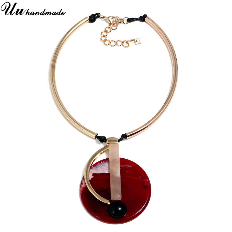 Gargantilhas colar colar colar acrílico boêmio colares pingentes moda jóias para mulher 2018 gargantilha kolye chocker collier