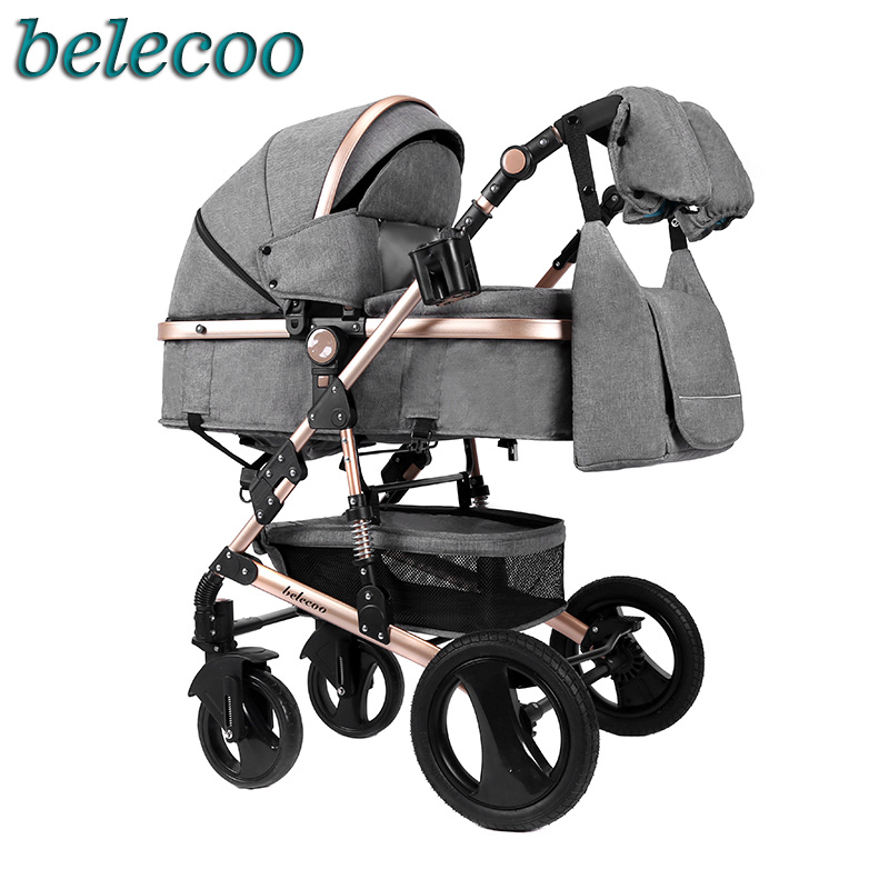 Belecoo baby stroller 2in1 stroller bidirectional high-quality shock absorber Gift mom backpack Russia free postBelecoo baby stroller 2in1 stroller bidirectional high-quality shock absorber Gift mom backpack Russia free post