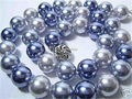 Мода новый 2015 бесплатная доставка 12 мм многоцветный AAA южного моря перлы раковины 18 ожерелье JT5425 серебряная цепочка тела