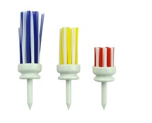 Pack 3 Colors ( Different Sizes) GOLF TEES BRUSH Driver Training Accessory Tool Hairbrush TEE Golf Accessories