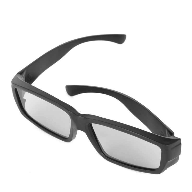 3D משקפיים שחור H4 מעגלי מקוטב פסיבי 3D סטריאו משקפיים עבור טלוויזיה אמיתי D 3D בתי קולנוע qiang