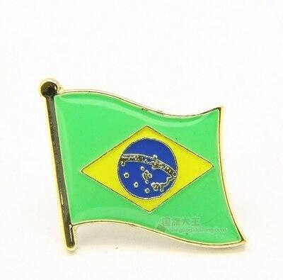 National Flag Metal Lapel Pin Flag Pin Brazil by Xzbn
