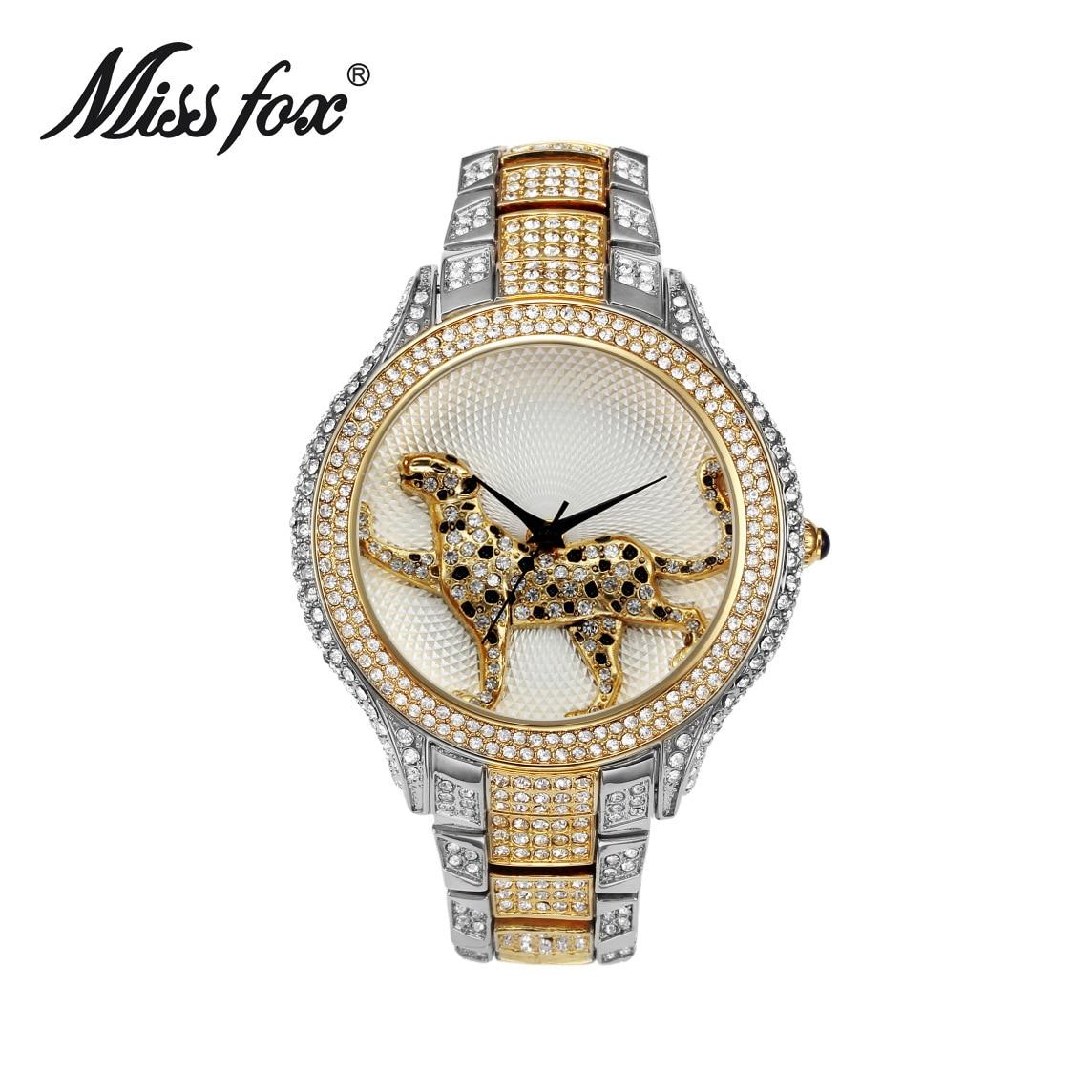 Panna lisa zegarek trójwymiarowy lampart diament wodoodporny zegarek - Zegarki damskie - Zdjęcie 2