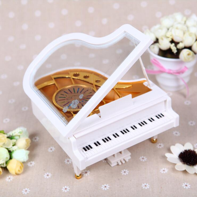 Ballet Dancer Rotating Piano Music Box Octave Music Christmas Valentine's Day Creative Gift (2) -