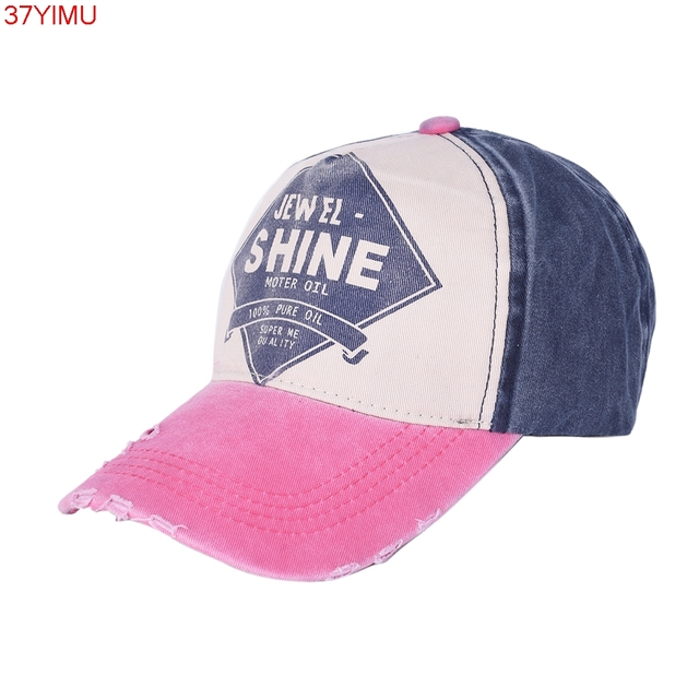 New Style Casual Active Hat Men Women Adjustable Flat Bill Demin Distressed  Cap Vintage Baseball Caps def71a0cfed3