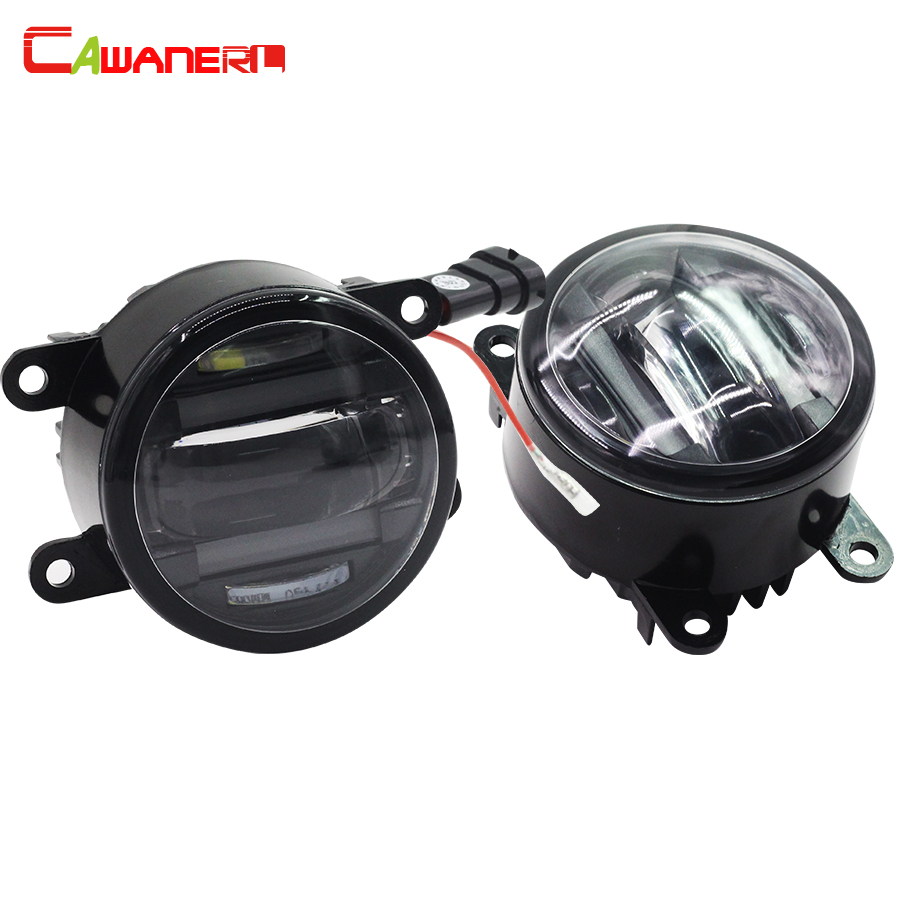 Cawanerl 1 paire lumière de voiture antibrouillard LED feux de jour accessoires DRL pour Suzuki Alto SX4 Splash Grand Vitara Jimny
