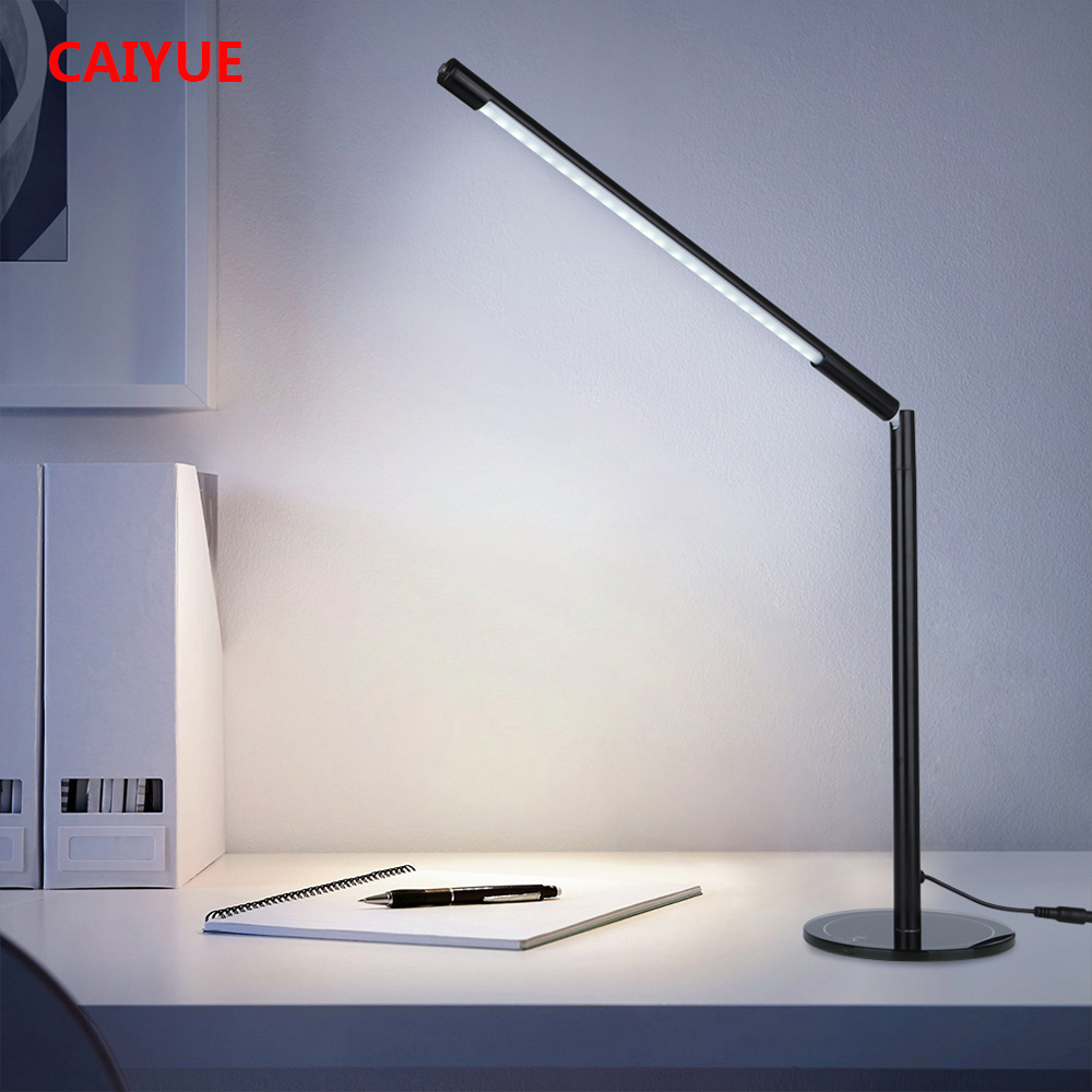 Table Lamp 48 LEDs 360 Degrees Rotation Read Office Desk Light Stepless Dimmable Study USB Powered Removable Flexible Button