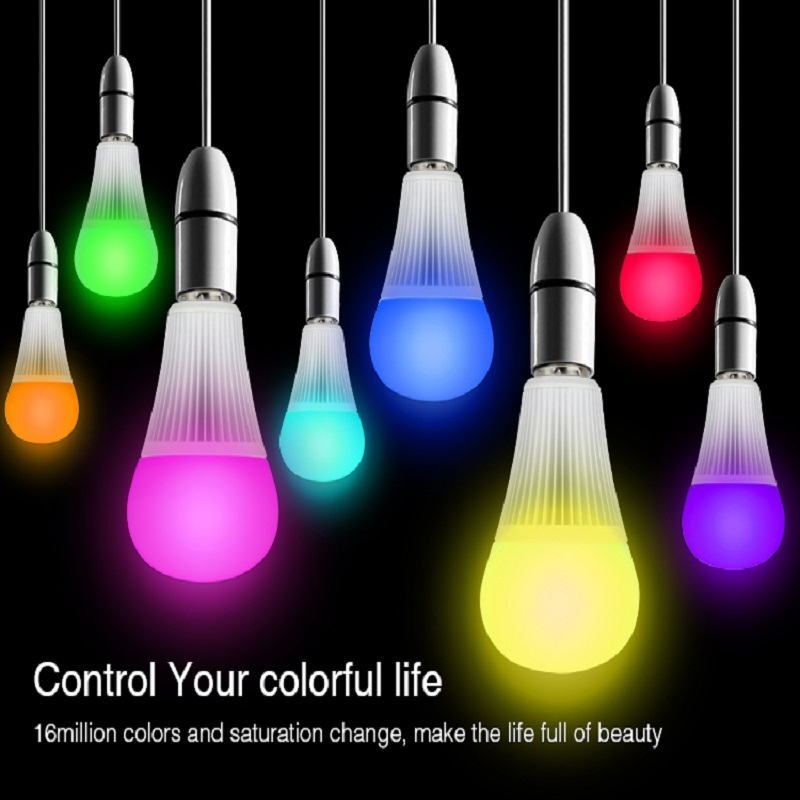 Mi Light 9W RGB+CCT AC85V-265V led bulb lamp smart mobile phone APP WIFI led light <font><b>FUT012</b></font> E27 white warm Dimmable Lampada Light image
