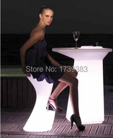 Moda Luminosa à prova d' água Recarregável de Alta LEVOU cadeira de bar Fezes bar barstool móveis estofados personalizados tamborete de barra de alta