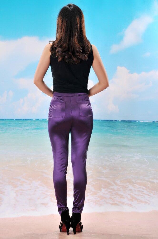 10 Farben Neue Frühlingsmode glänzend bunt dünn AA Disco Hosen - Damenbekleidung - Foto 4
