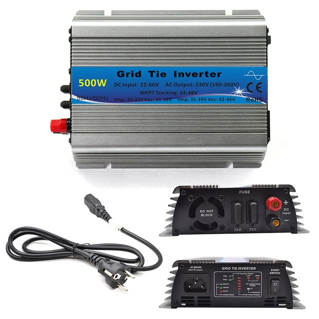 600W 500W 300W MPPT Solar Grid Tie Micro Inverter 22 60VDC In 110V 230VAC On Grid Tied Pure Sine Wave Out Microinverter|Inverters & Converters|   -