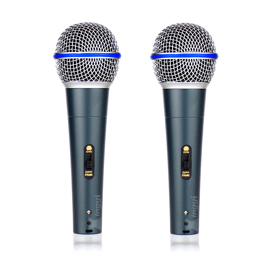 2Pcs Professional Switch Handheld Mic Vocal Dynamic Microphone For BETA 58A BETA58A Music Player Sing Recorder KTV DJ Controller2Pcs Professional Switch Handheld Mic Vocal Dynamic Microphone For BETA 58A BETA58A Music Player Sing Recorder KTV DJ Controller
