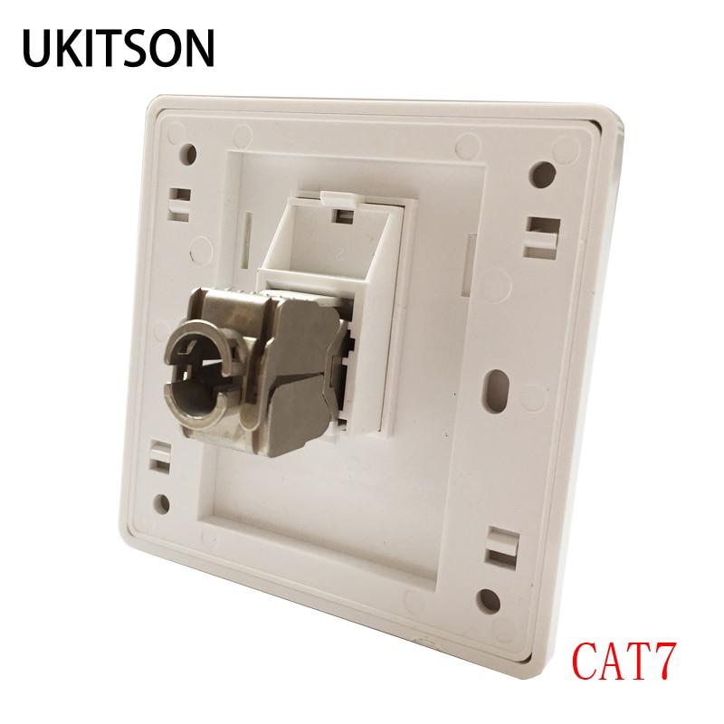 1 порт CAT7 RJ45 настенная панель CAT.7 разъем интерфейса LAN для сетевой вилки 10G
