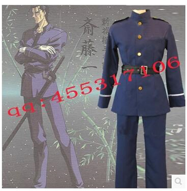 Chaud! Haute qualité Anime Rurouni Kenshin/samouraï X saito Hajime Cosplay Costume Halloween uniforme tenue Costume parfait pour vous