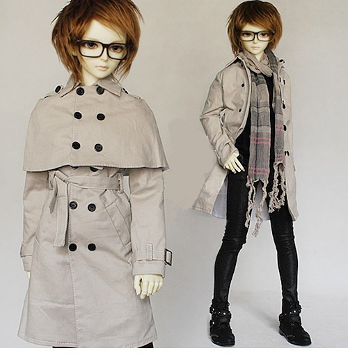 Handsome Detachable Long Cape Coat  Long windbreaker Unisex 2 Colors for BJD 1/3 SD Doll Clothes CW88 exclusive handsome martin boots for bjd 1 3 sd10 sd13 sd17 uncle ssdf id ip eid big foot doll shoes sm9