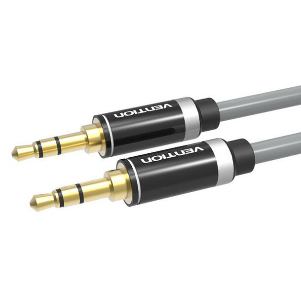 Vention 2 M aux cabo de áudio 3.5mm macho para macho cabo aux carro banhado a ouro cabo auxiliar de 3.5mm jack estéreo