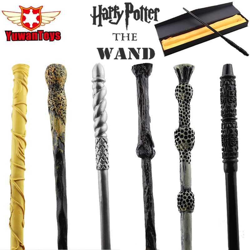 Hot Sale Magic Wand Harry Potter Hermione Dumbledore Sirius Voldemort Deathly Hallows Magic Wands Cosplay Toys Gifts Box Packing 5pcs set movie cosplay albus dumbledore the elder magic wand harry potter core toys in box collection with gift box set