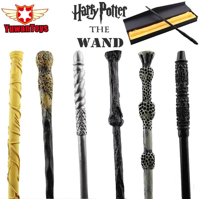 Vente chaude Magique Baguette Harry Potter Hermione Dumbledore Sirius Voldemort Deathly Hallows Baguettes Magiques Cosplay Jouets Cadeaux Boîte D'emballage