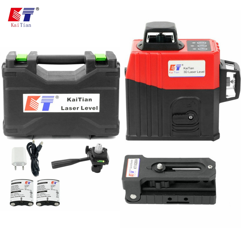 Kaitian CE Certificated 3D Lines Laser Level with Magnet Bracket BATTERY Horizontal And Vertical Lines Work