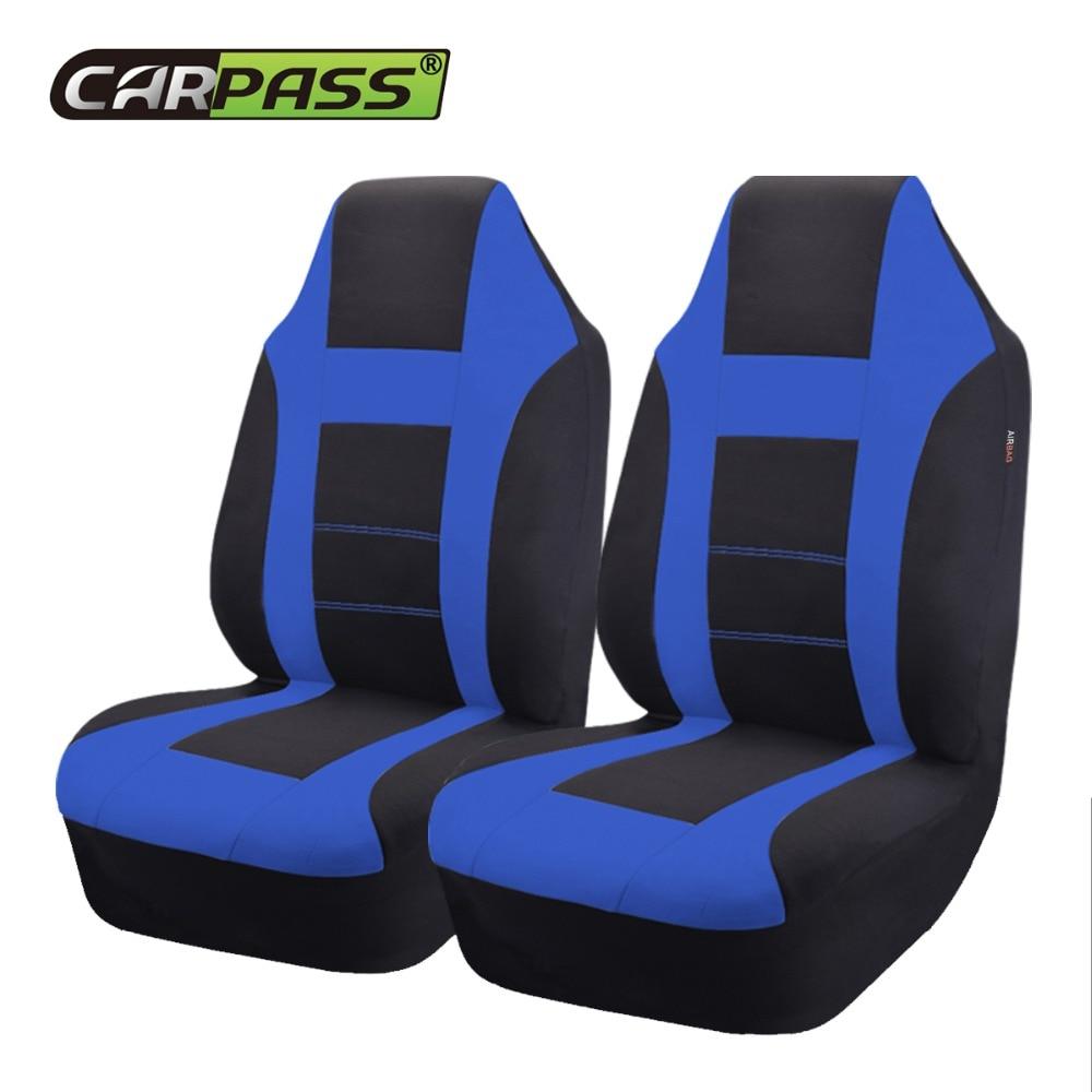 Car-pass Fundas de asiento de automóvil nuevas Ajuste universal de la mayoría del estilo Reposacabezas no desmontables del automóvil Rojo interior azul gris Protector de asiento de automóvil