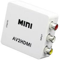 2 PCS RCA To HDMI AV To HDMI Full HD 1080P AV2HDMI Mini AV To HDMI