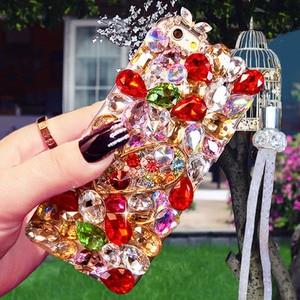 Image 4 - Luxo cristal cor gem strass caso para huawei honor 9x pro 8x max 7x 20 pro i s 10 9 8lite v20 30 note8 capa de telefone