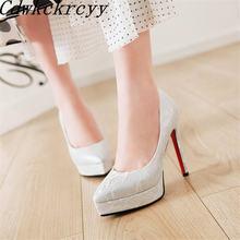 Женские туфли на высоком каблуке весенне осенние белые с кружевным